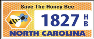 nc-honeybee-license-tag